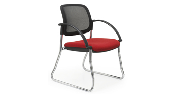 V Mesh Visitor Chair